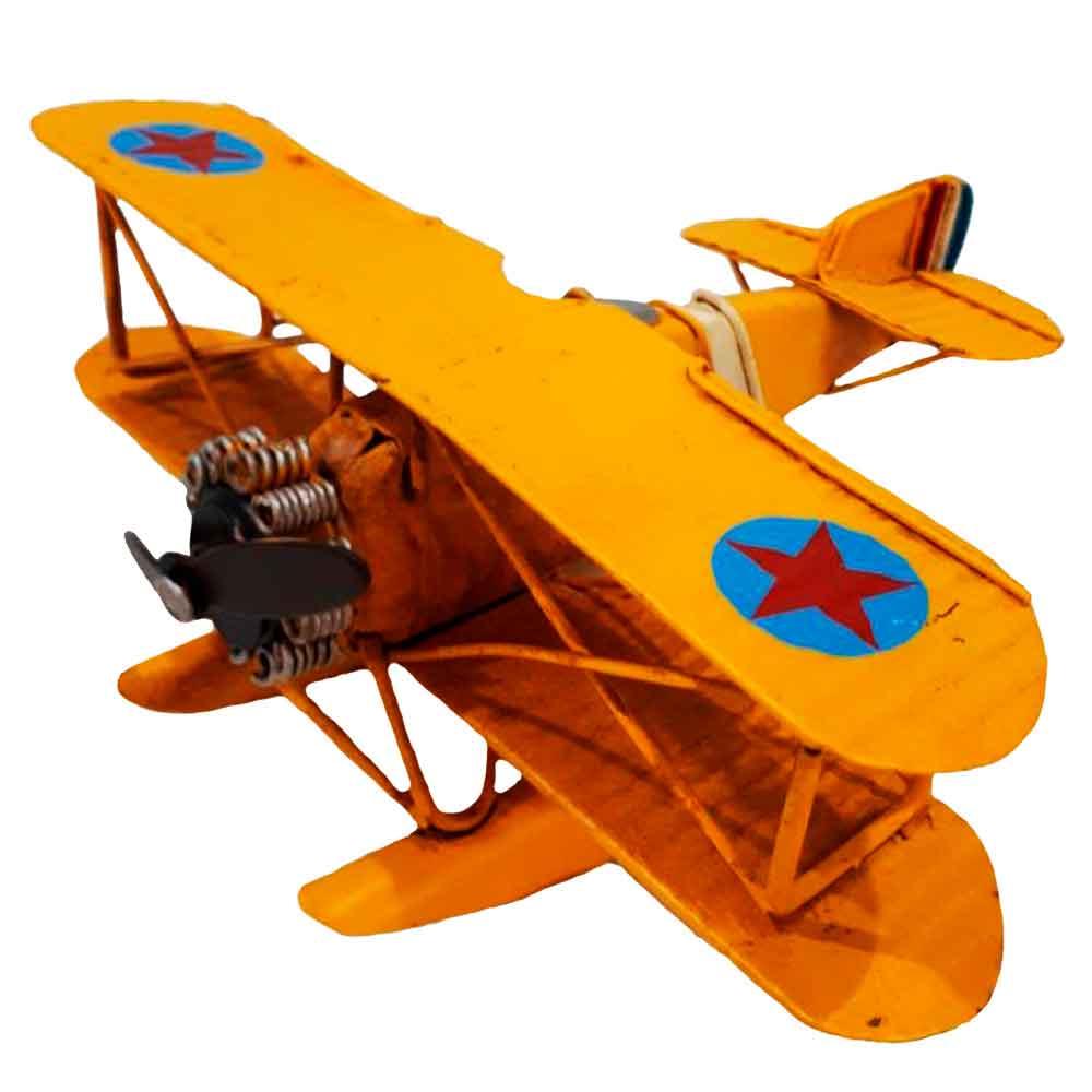 Miniatura-Hidro-Aviao-Amarelo