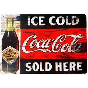 Placa-Decorativa-Mdf-Ice-Cold-Coca-Cola-Sold-Here