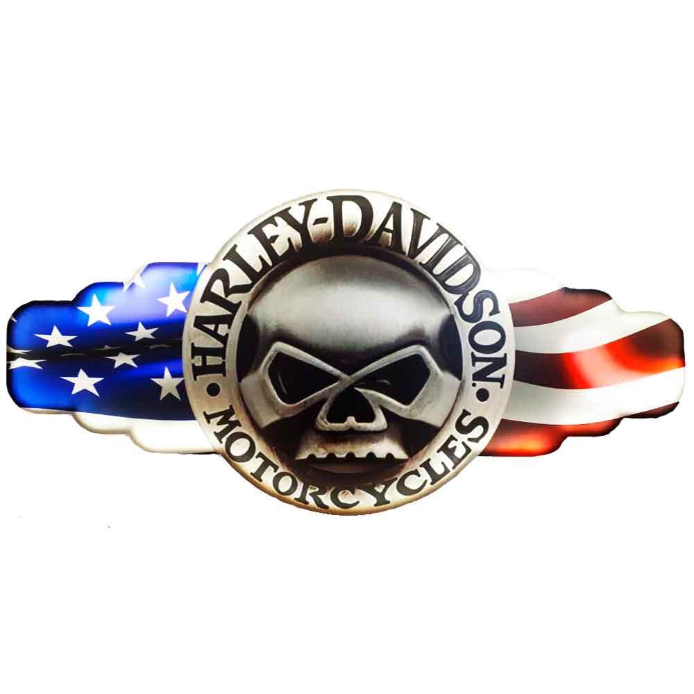 Placa-Decorativa-Mdf-Com-Led-Harley-Davidson-Skull
