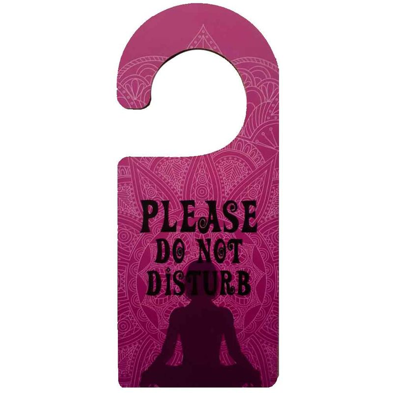 Aviso-De-Porta-Mdf-Please-Do-Not-Disturb-Roxo