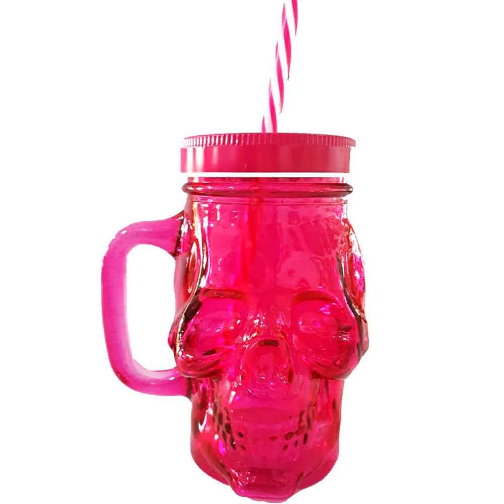 copo-de-vidro-com-canudo-caveira-rosa-cod-538601
