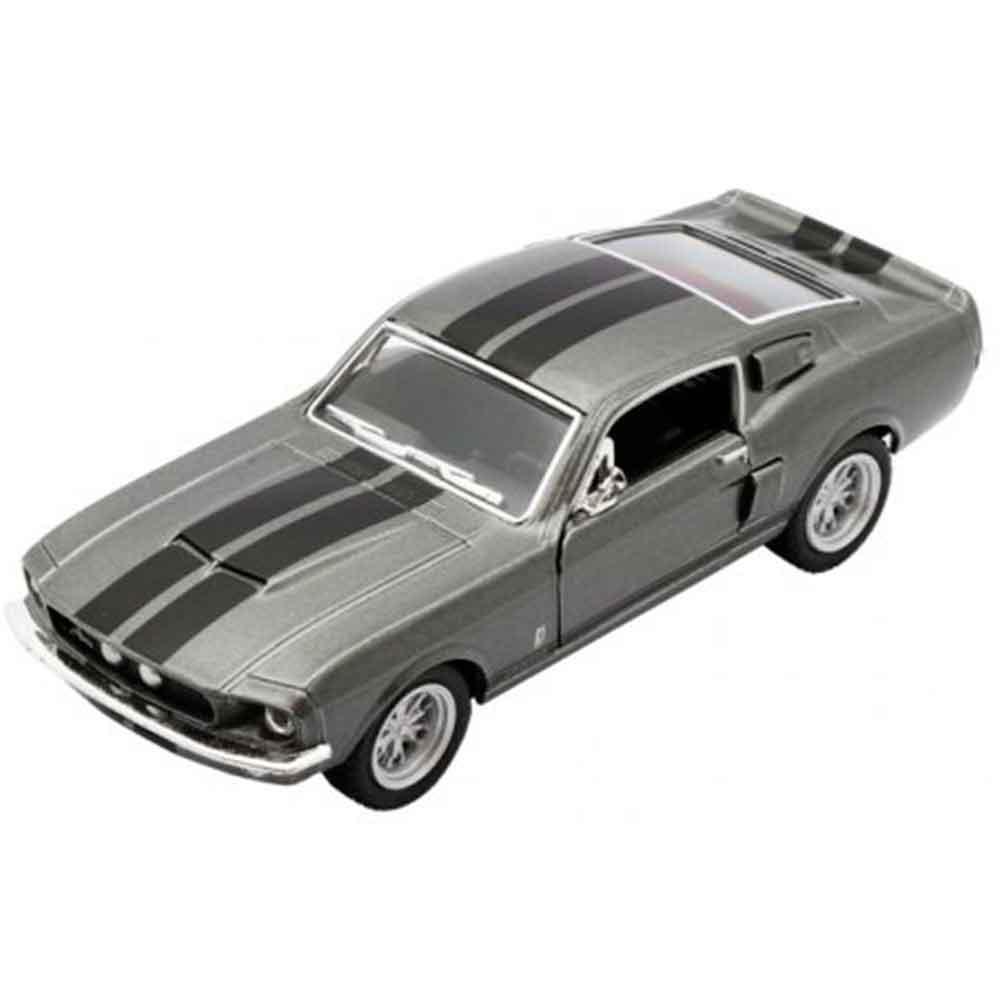 Miniatura-1967-Shelby-Gt-500-Escala-1-38-Cinza-E-Preto