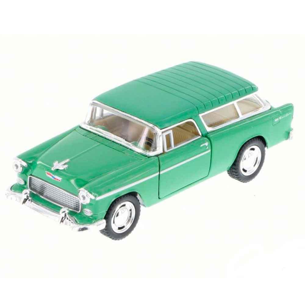 Miniatura-1955-Chevy-Bel-Air-Nomad-Escala-1-40-Verde