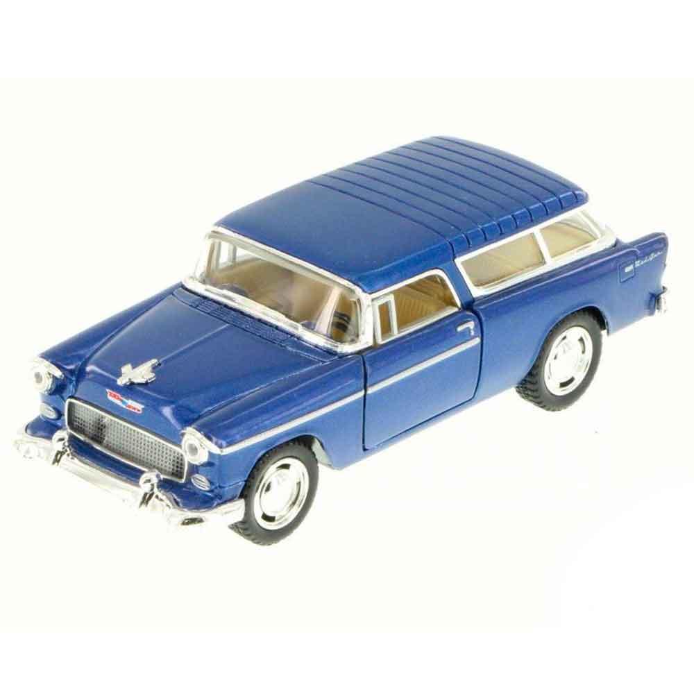 Miniatura-1955-Chevy-Bel-Air-Nomad-Escala-1-40-Azul
