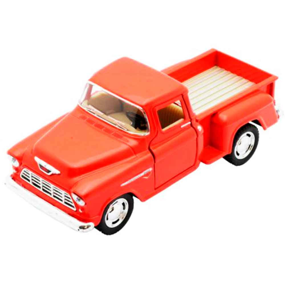 Miniatura-1955-Chevy-Stepside-Pick-up-Escala-1-32-Laranja