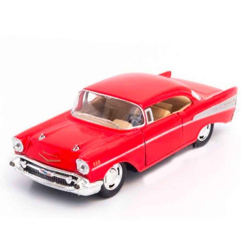 Miniatura-1957-Chevrolet-Bel-Air-Escala-1-40-Vermelho