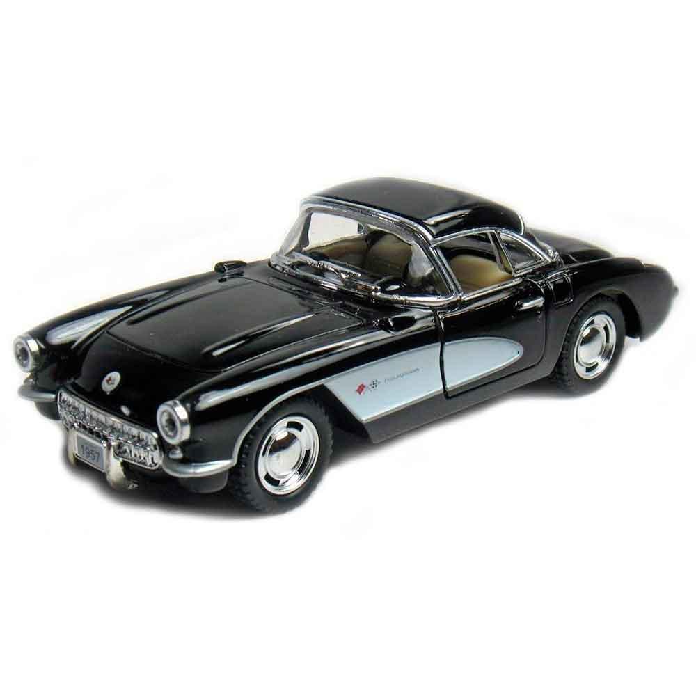 Miniatura-1957-Chevrolet-Corvette-Escala-1-34-Preto
