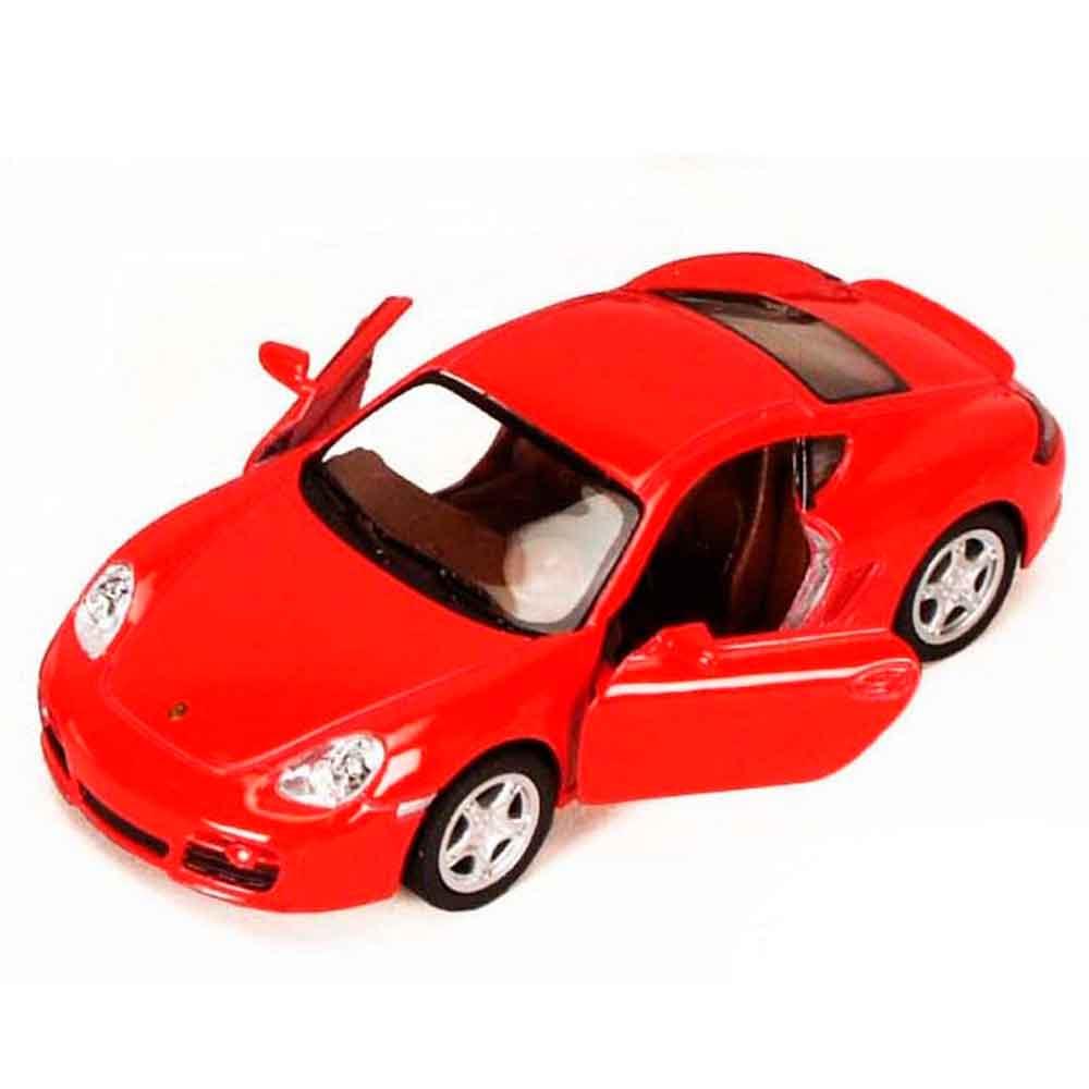 Miniatura-Porsche-Cayman-S-Escala-1-34-Vermelho