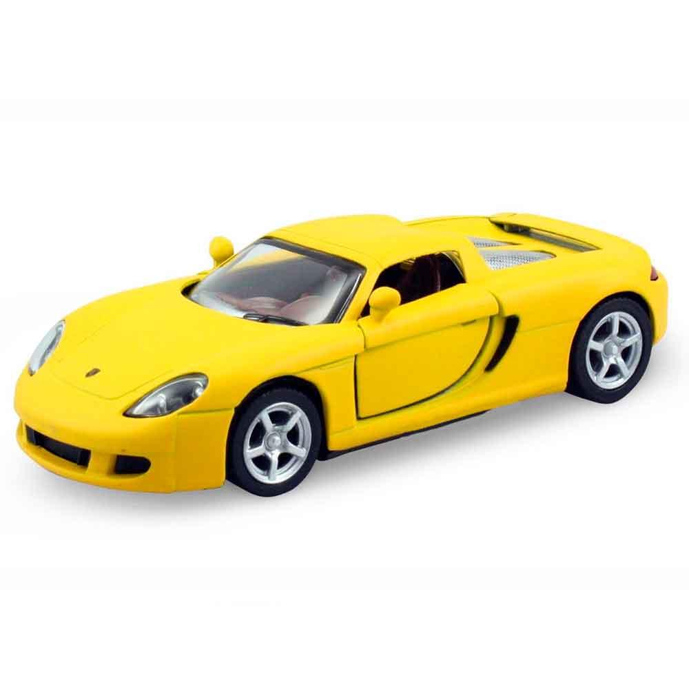 Miniatura-Porsche-Carrera-Gt-Escala-1-36-Amarelo