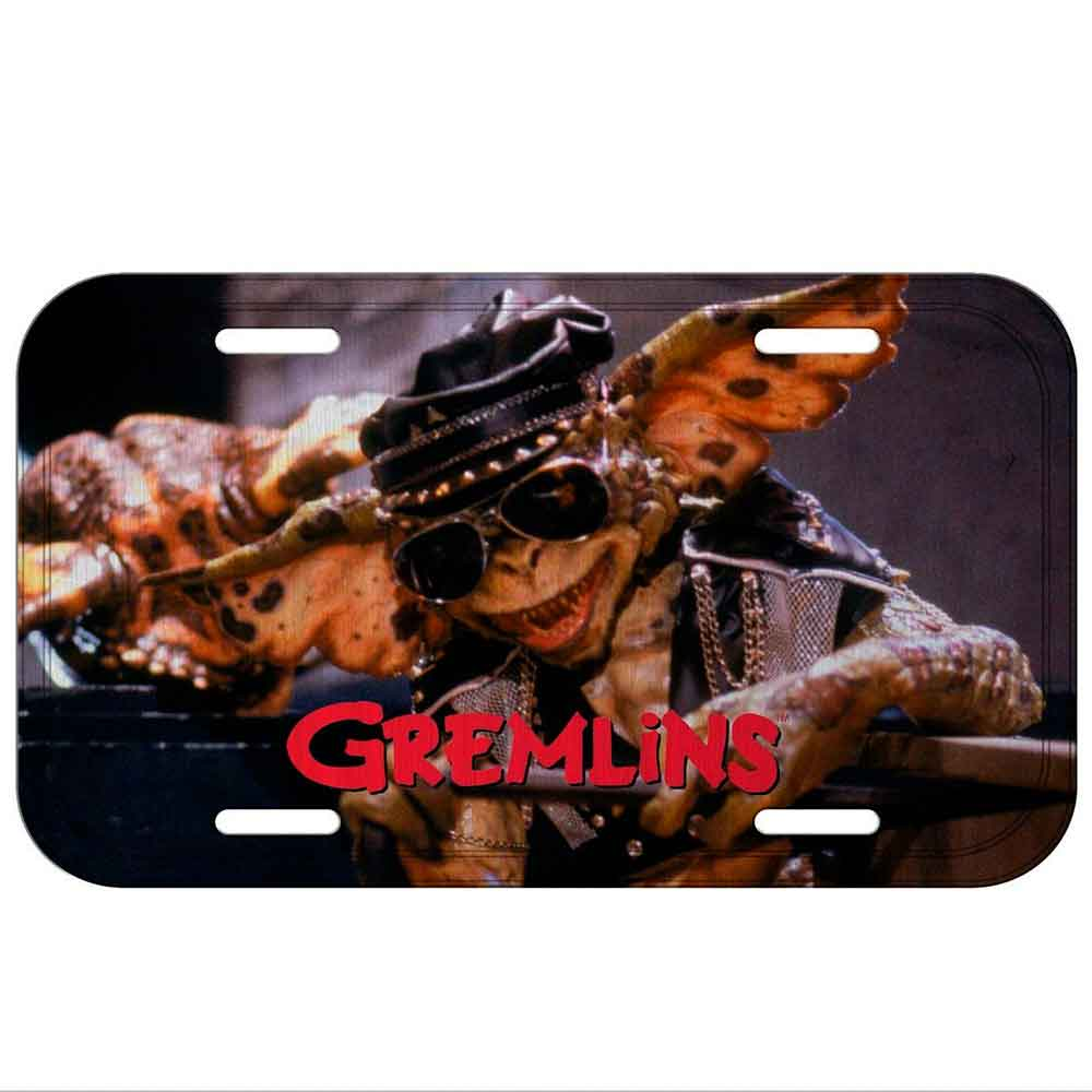 Placa-De-Carro-Metal-Gremlins-Cool-Monster-Preta