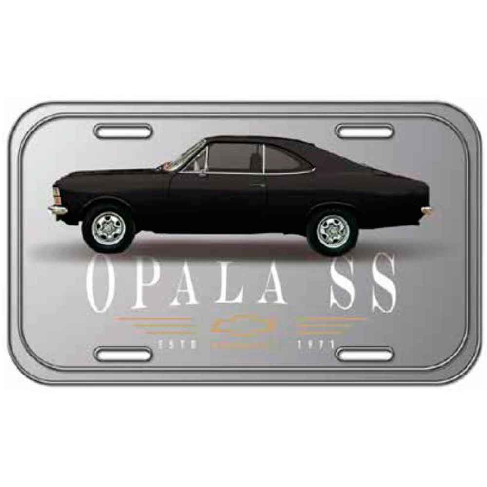 Placa-De-Carro-Metal-Gm-Opala-Ss-1971-Prata
