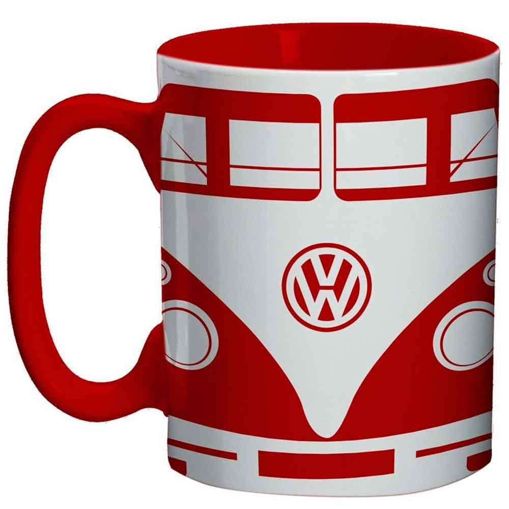 Mini-Caneca-De-Porcelana-Volkswagen-Kombi-Vermelha-135ml