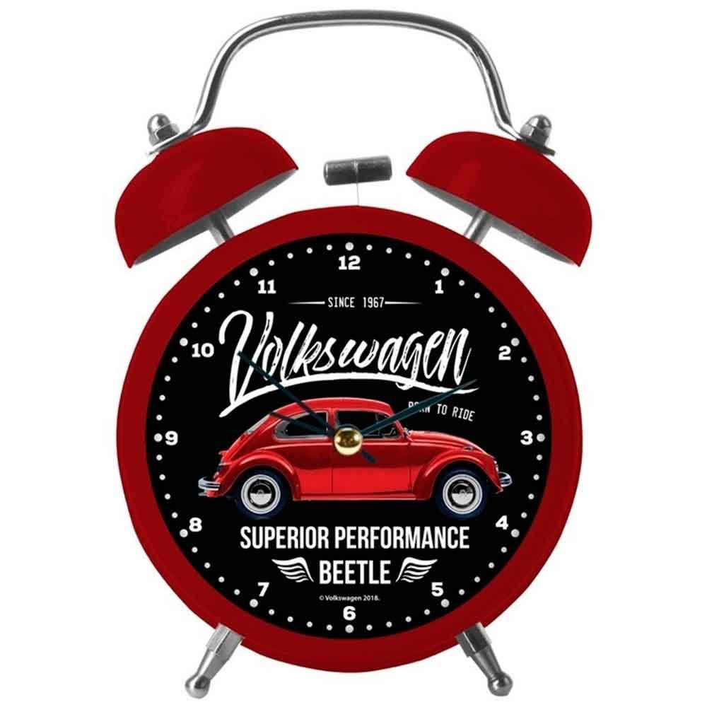 Relogio-Despertador-Metal-Volkswagen-Fusca-Vermelho