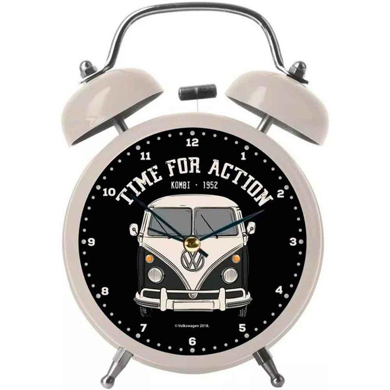 Relogio-Despertador-Metal-Volkswagen-Kombi-Branco