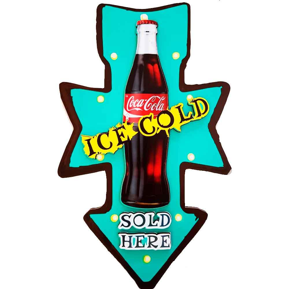 Placa-Decorativa-Mdf-Alto-Relevo-Coca-Cola-Vermelho---Unica