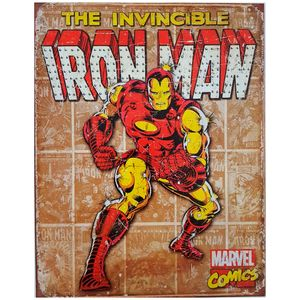 Placa-De-Metal-Iron-Man-Marvel
