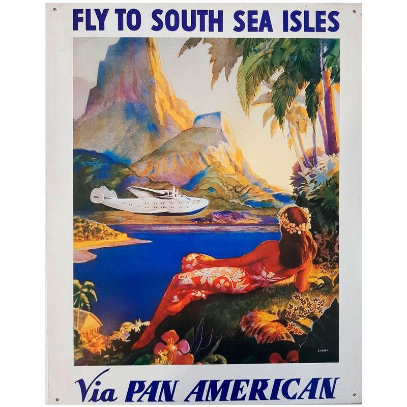 Placa-De-Metal-Pan-American