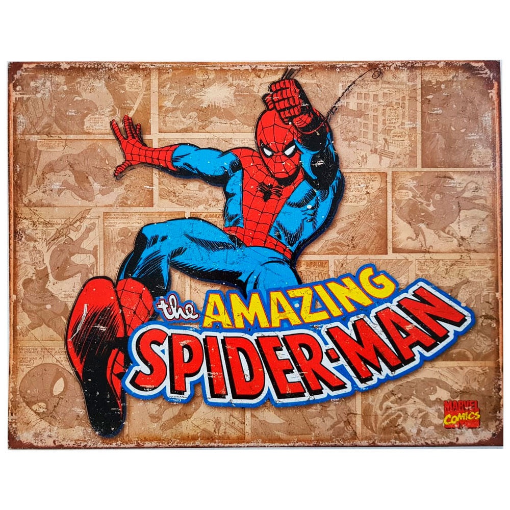 Placa-De-Metal-Spider-Man