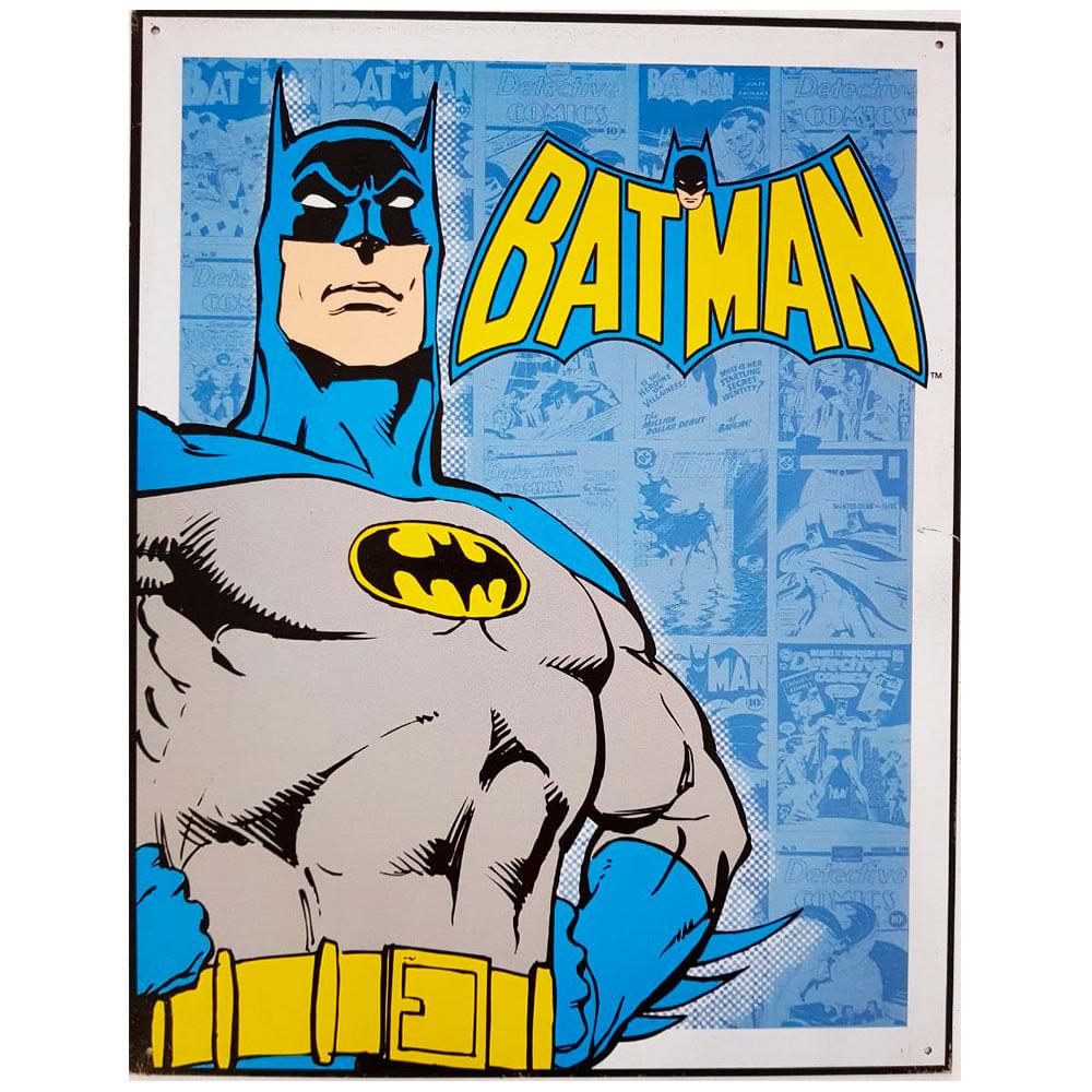 Placa-De-Metal-Batman