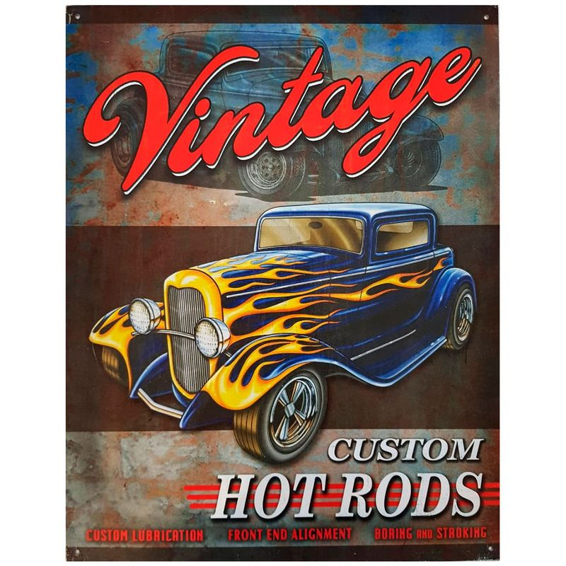 Placa-De-Metal-Vintage-Hot-Rods