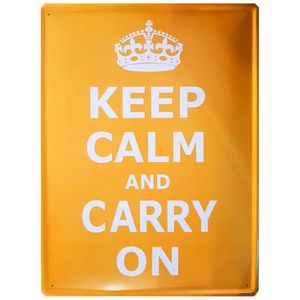 Placa-De-Metal-Keep-Calm-And-Carry-On