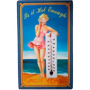 Placa-De-Metal-Retro-Pinup-Hot