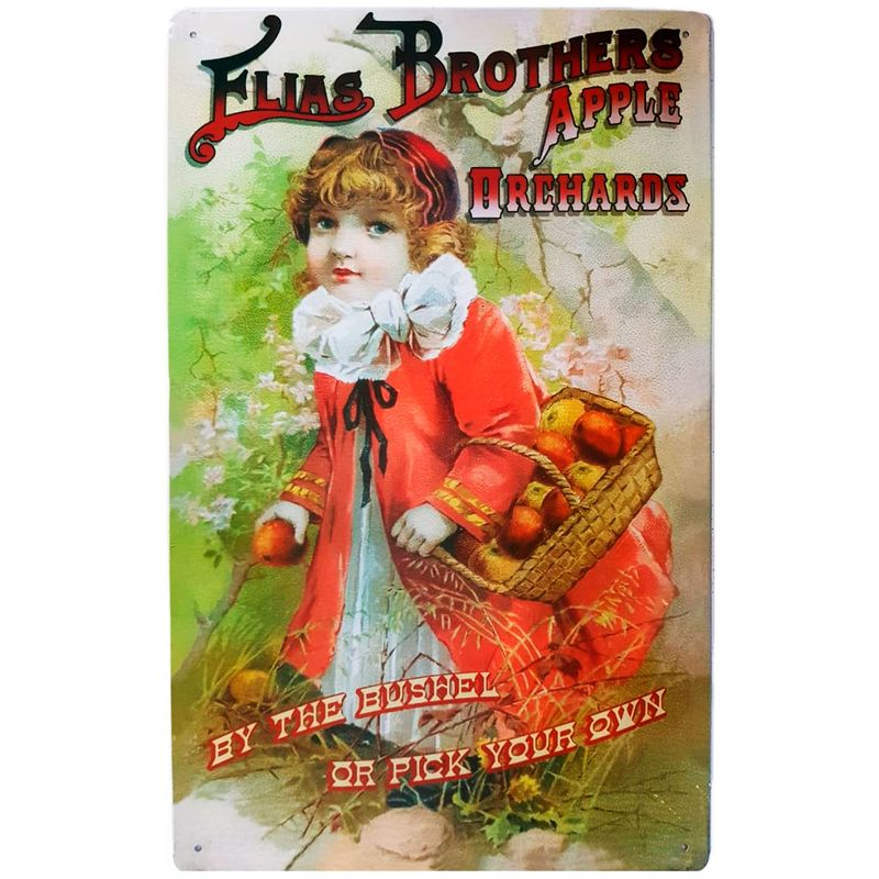 Placa-De-Metal-Elias-Brothers-Apple