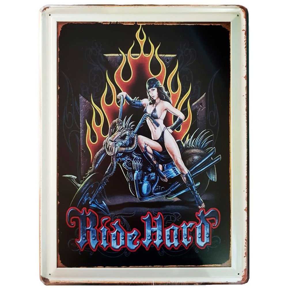 Placa-De-Metal-Da-Ride-Hard