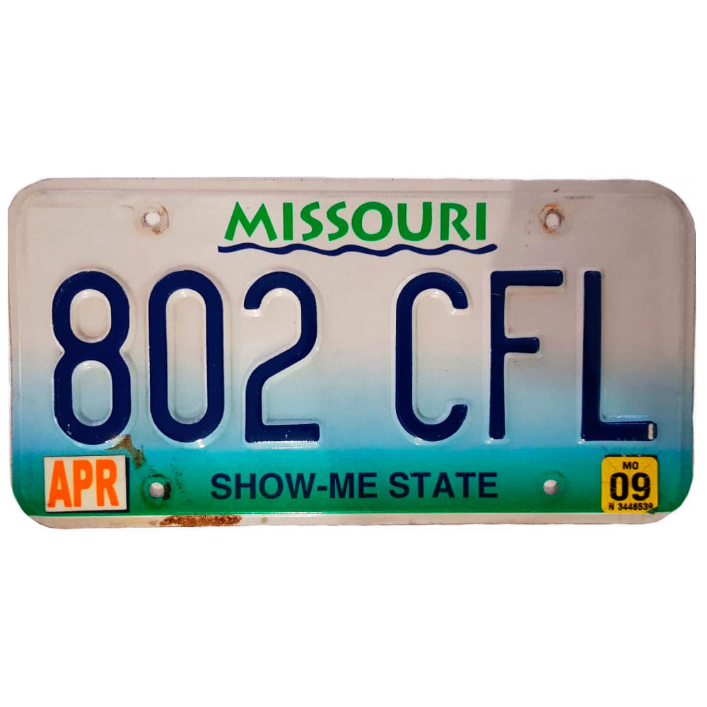 Placa-De-Carro-De-Metal-Importada-802-Cfl-Missouri