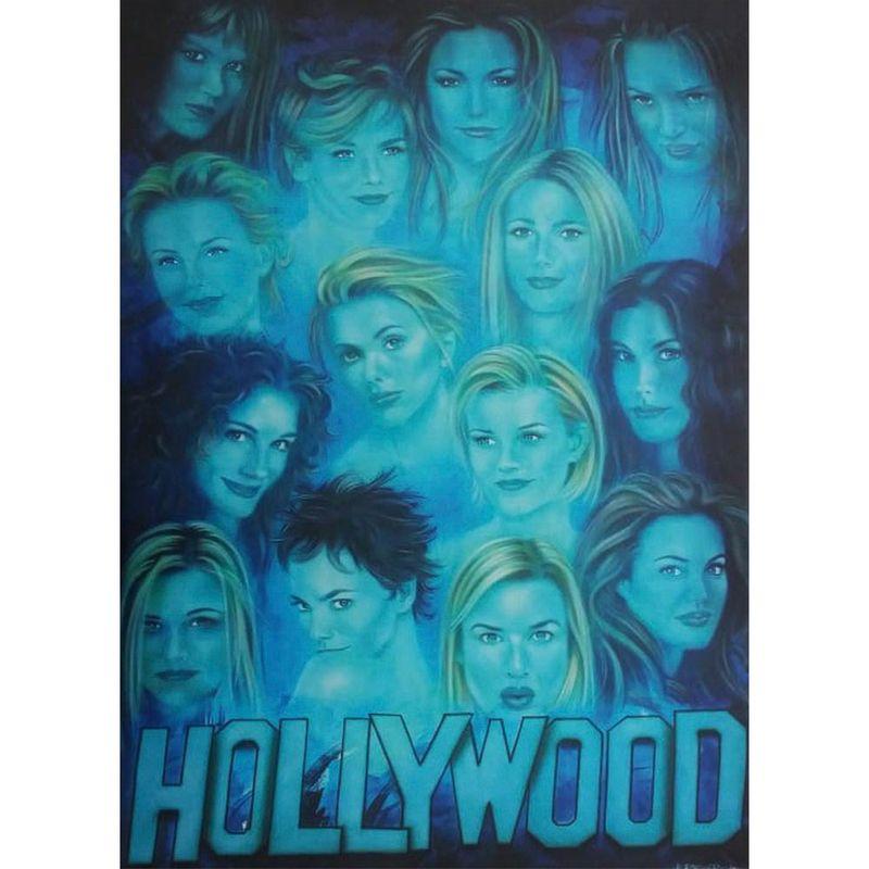 Quadro-Tela-Atrizes-De-Hollywood
