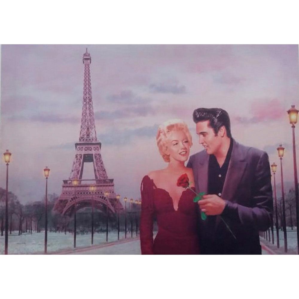Quadro-Tela-Elvis-Presley-E-Marilyn-Monroe