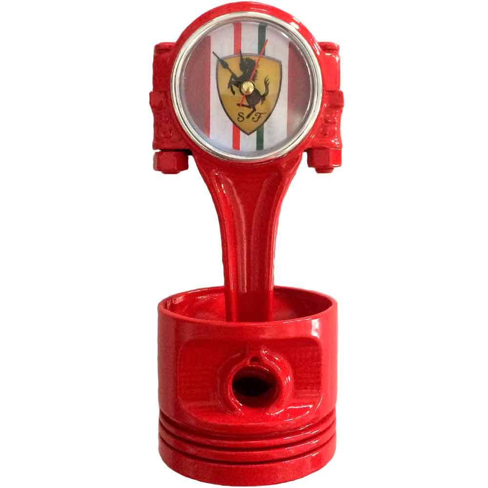 Relogio-De-Mesa-Pistao-Ferrari-Vermelho