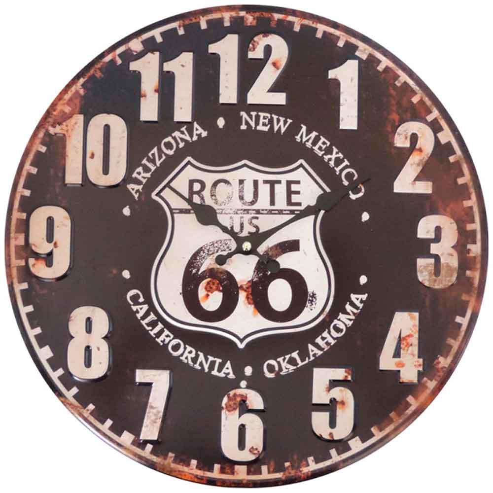 relogio-de-parede-route-66-new-mexico-preto