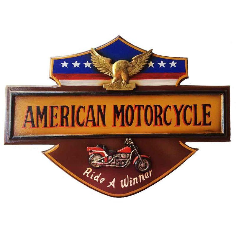 quadro-madeira-american-motorcycle