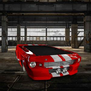 Mesa-De-Bilhar-Mustang-Diamonds-Are-Forever-Vermelho---Tecido-Preto