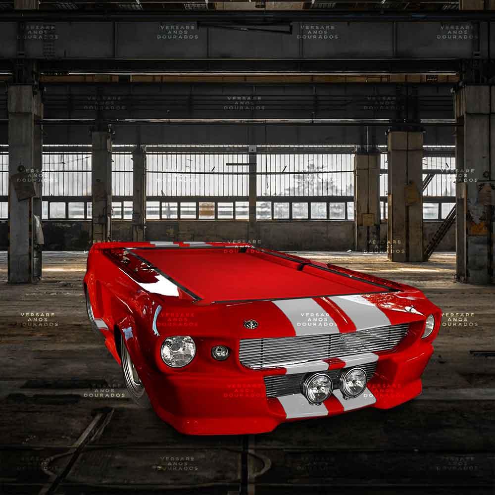 Mesa-De-Bilhar-Mustang-Diamonds-Are-Forever-Vermelho---Tecido-Vermelho