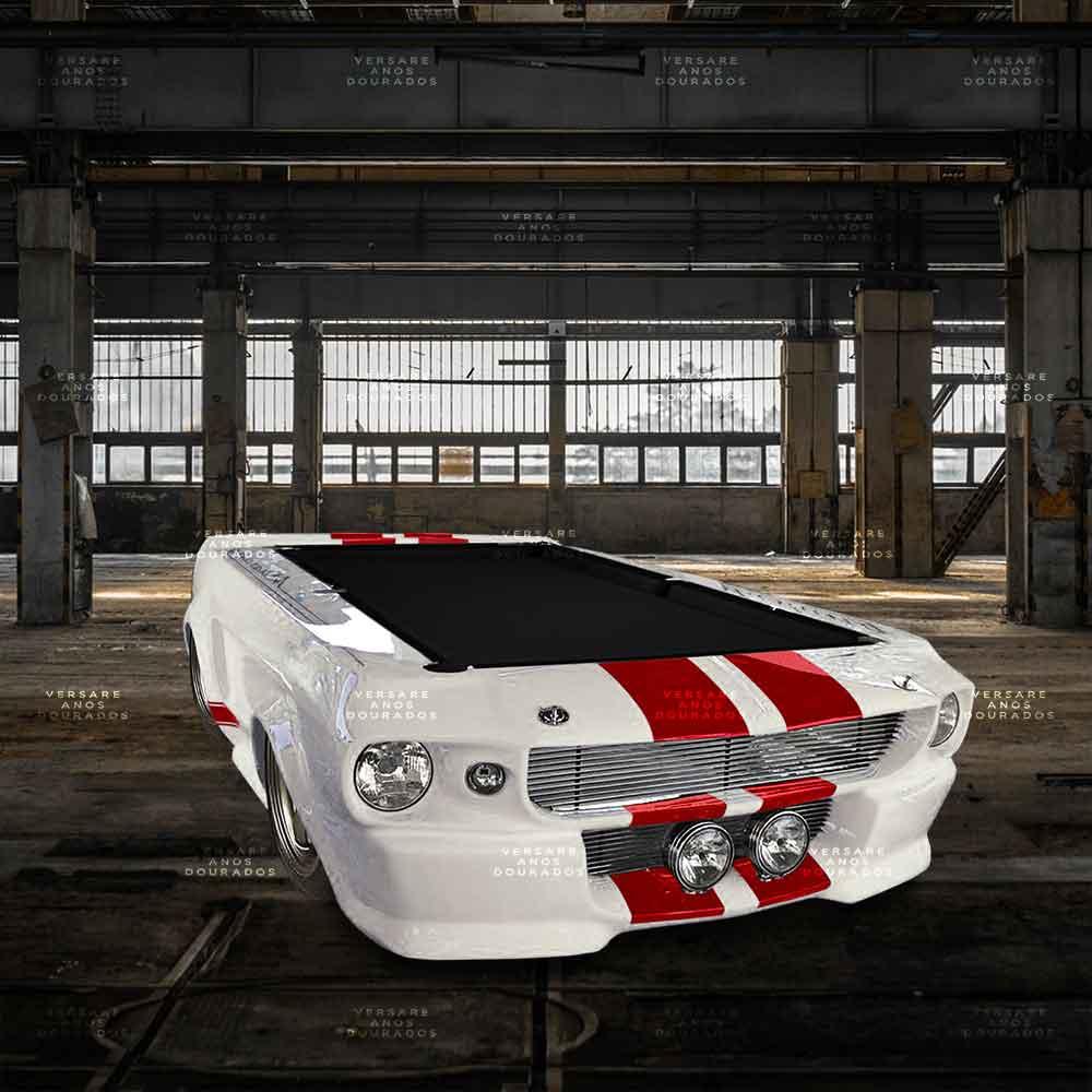 Mesa-De-Bilhar-Mustang-Goldfinger-Branco---Tecido-Preto