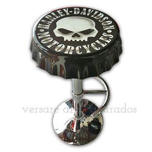 Banqueta-Giratoria-Tampa-De-Garrafa-Harley-Davidson-Skull