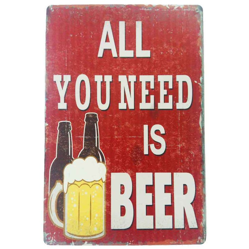 Placa-De-Metal-Decorativa-All-You-Need-Is-Beer
