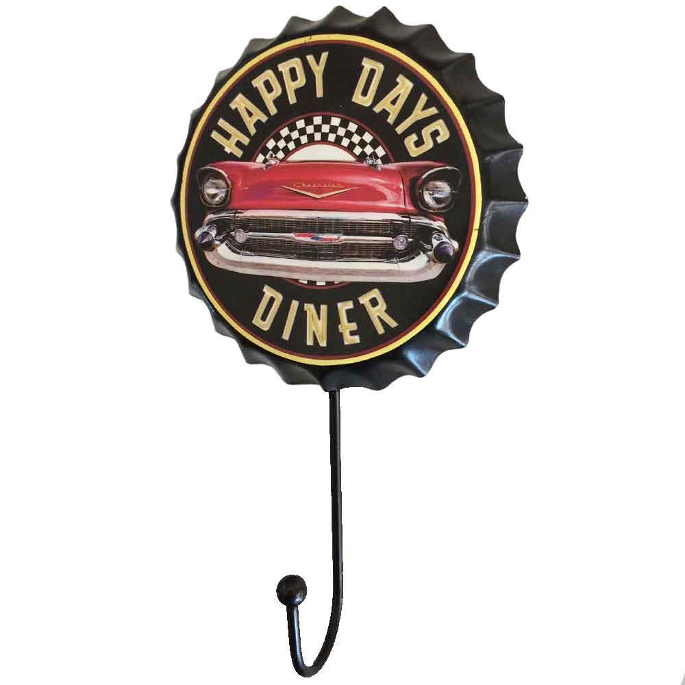 Gancho-De-Parede-Happy-Days-Diner-Preto