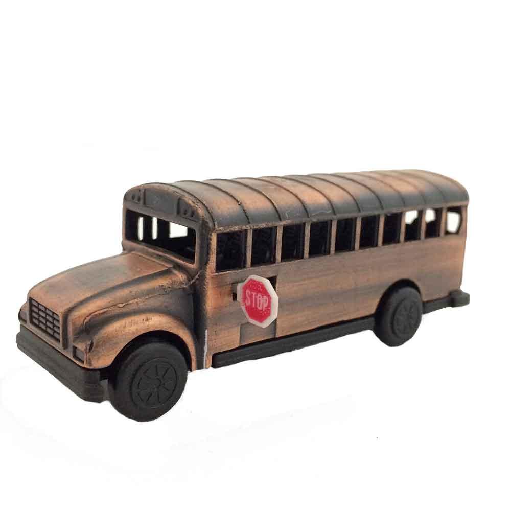 Apontador-Retro-Miniatura-Onibus-Escolar-Envelhecido
