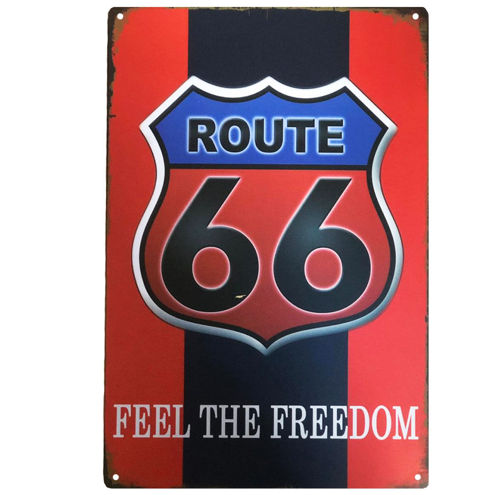 placa-decorativa-route-66-feel-the-fredoom