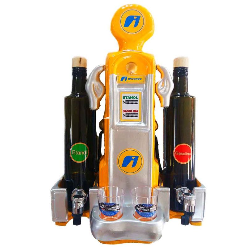 Pingometro-Bomba-de-Combustivel-2-Garrafas-Amarelo-Ipiranga-----------------------------------------