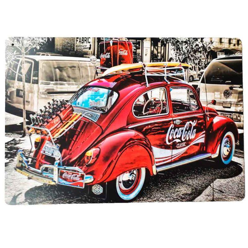 Placa-Decorativa-Mdf-Fusca-Coca-Cola-Classic