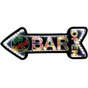 Placa-Decorativa-Mdf-Com-Led-Seta-Retro-Bar-Open