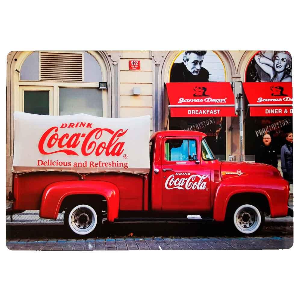 Placa-Decorativa-Mdf-Caminhao-Coca-Cola-Vermelho---Unica