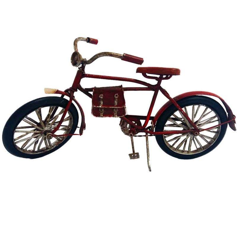 Miniatura-Bicicleta-Vermelha-com-Bolsa-de-Couro-----------------------------------------------------