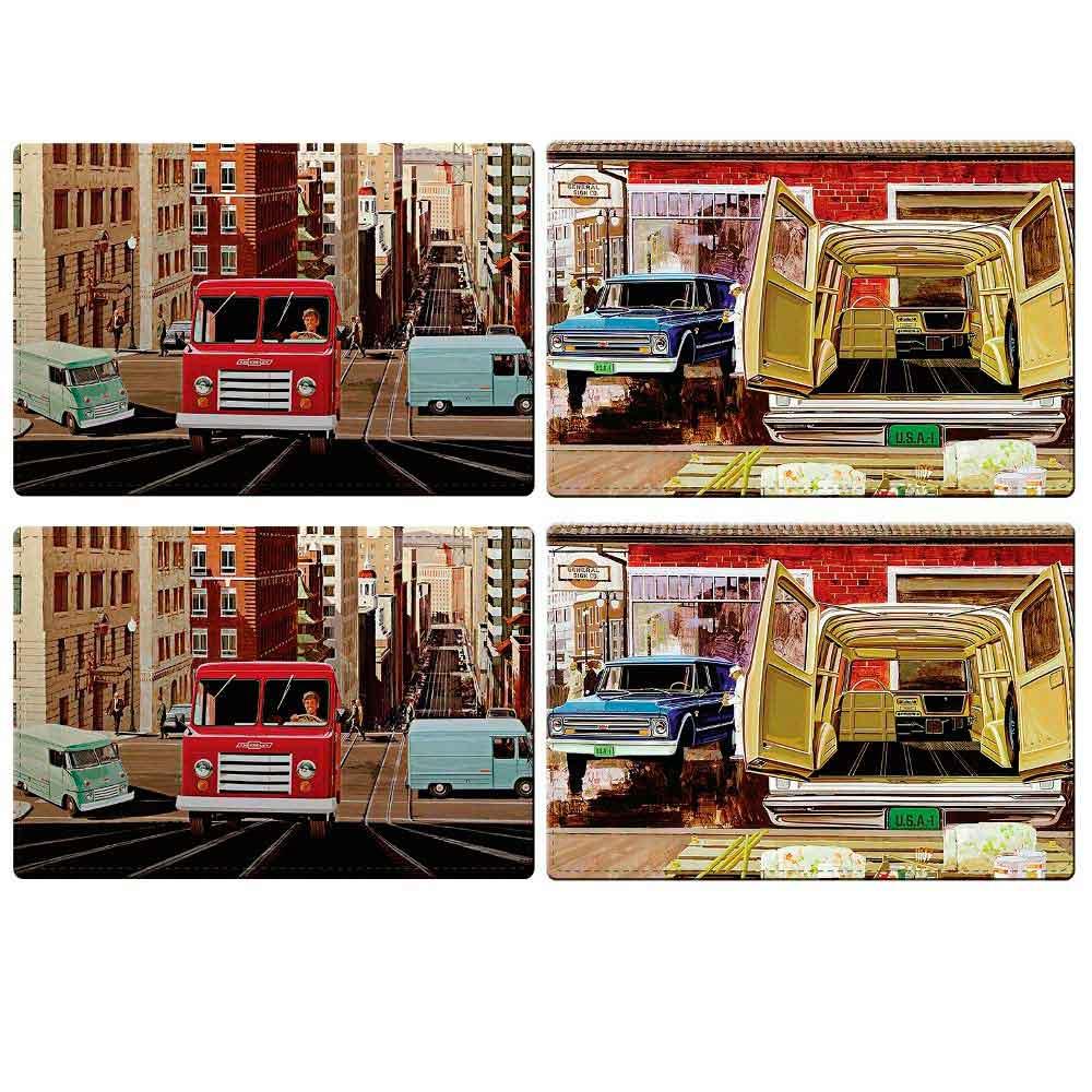 Jogo-Americano-Pick-ups-Truck-Chevrolet-Retro-------------------------------------------------------
