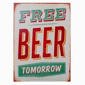Quadro-Tela-Free-Beer-Tomorrow----------------------------------------------------------------------