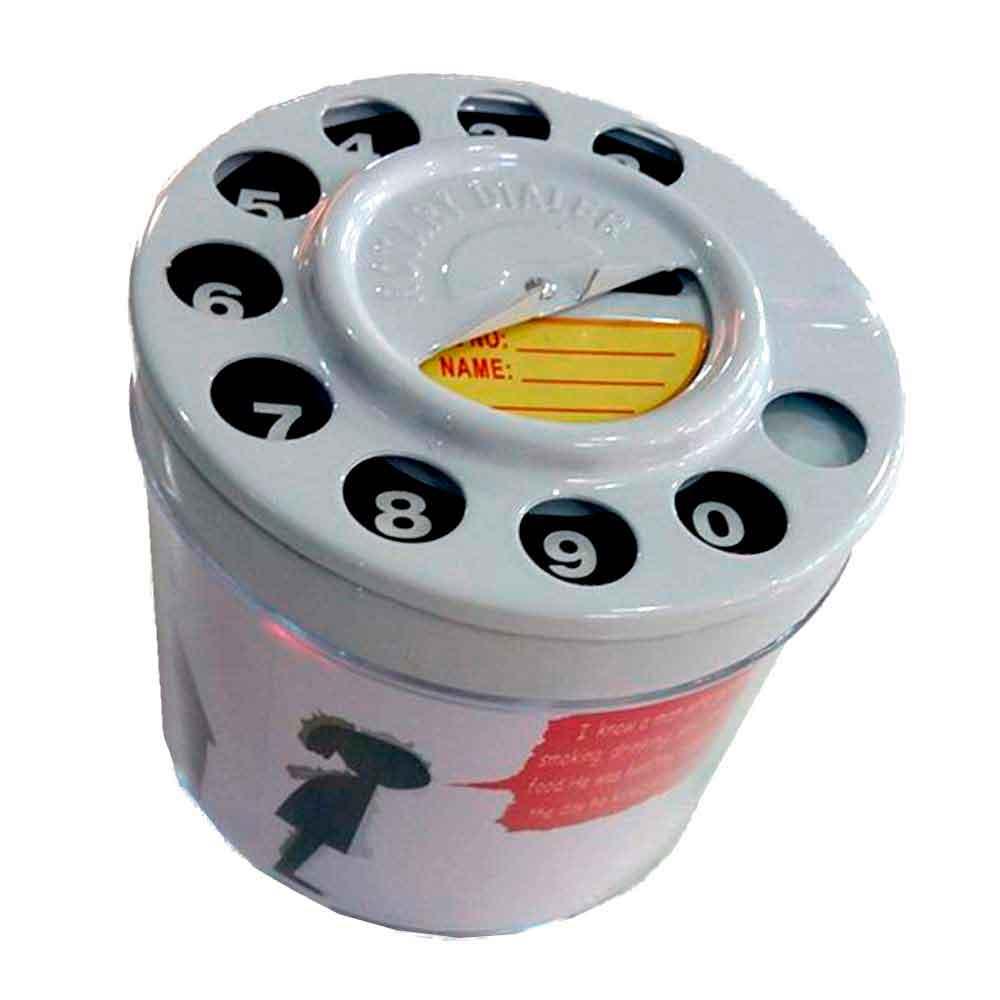 Cinzeiro-de-Mesa-Telefone-Retro-Branco--------------------------------------------------------------